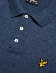 Lyle & Scott - SS Knitted Polo - lyhythihaiset - dark navy marl - 2