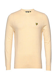 Cotton Merino Crew Jumper - BUTTERCREAM MARL