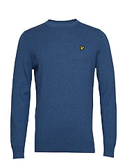 Cotton Merino Crew Jumper - LAPIS BLUE MARL