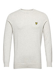 Cotton Merino Crew Jumper - LIGHT GREY MARL
