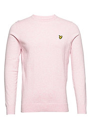 Cotton Merino Crew Jumper - STRAWBERRY CREAM MARL