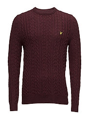 Cable Jumper - CLARET MARL