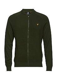 Ottoman Knitted Bomber - WOODLAND GREEN
