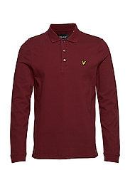 LS Polo Shirt - CLARET JUG