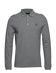 LS Polo Shirt - MID GREY MARL