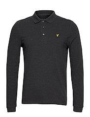 LS Polo Shirt - CHARCOAL MARL