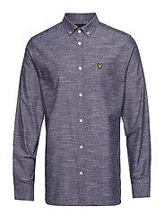 Space Dye Oxford Shirt - NAVY