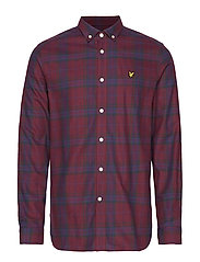 Check Flannel Shirt - BURGUNDY