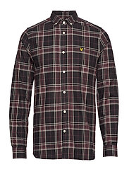 Check Flannel Shirt - TRUE BLACK