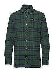 Tartan Overshirt - JADE GREEN