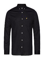 Slim Fit Oxford Shirt - TRUE BLACK