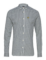 LS Slim Fit Gingham Shirt - JADE GREEN/WHITE