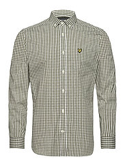 LS Slim Fit Gingham Shirt - LICHEN GREEN/ WHITE