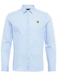 LS Slim Fit Poplin Shirt - POOL BLUE