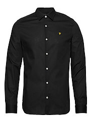 LS Slim Fit Poplin Shirt - TRUE BLACK