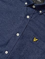 Lyle & Scott - Mottled Shirt - podstawowe koszulki - navy - 2