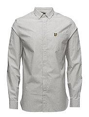 Gingham Shirt - LIGHT GREY MARL
