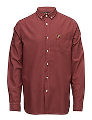 Garment Dye Oxford Shirt - POMEGRANATE