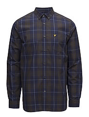 Poplin Check Shirt - NAVY
