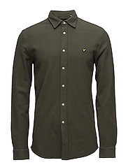 Honeycomb Jersey Shirt - OLIVE
