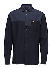 Patchwork Overshirt - NAVY