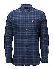 Check Flannel Shirt - STORM BLUE