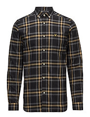 Check Flannel Shirt - TRUE BLACK/URBAN GREY