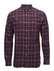 Check Flannel Shirt - CLARET JUG