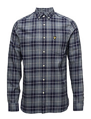 Check Flannel Shirt - MIST BLUE