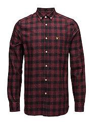 Flecked Check Shirt - CLARET JUG