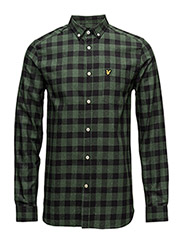 Flecked Check Shirt - LEAF GREEN