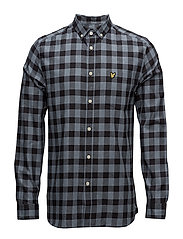 Flecked Check Shirt - MIST BLUE