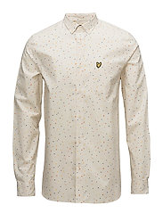 Climbing Wall Print Shirt - SEASHELL WHITE