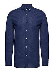 Cotton Linen Shirt - NAVY