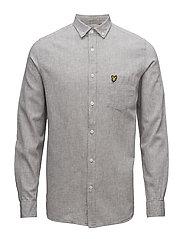 Cotton Linen Shirt - TRUE GREY