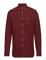 Winter Weight Flannel Shirt - CLARET JUG