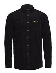 Cord Overshirt - TRUE BLACK
