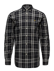 Poplin Fine Check Shirt - TRUE BLACK