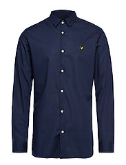Slim Fit Poplin Shirt - NAVY