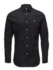 Slim Fit Poplin Shirt - TRUE BLACK