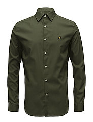 Slim Fit Poplin Shirt - WOODLAND GREEN