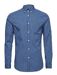 LS Slim Fit Gingham Shirt