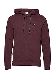 Hooded Full Zip Midlayer - NEW CLARET MARL
