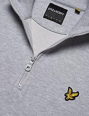 Lyle & Scott - 1/4 Zip Pique Sweatshirt - half zip - light grey marl - 2
