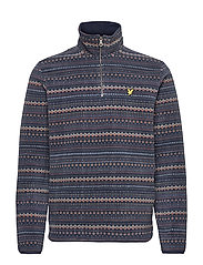 Fairisle Fleece Half Zip - Z271 DARK NAVY