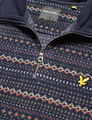 Lyle & Scott - Fairisle Fleece Half Zip - fleece - z271 dark navy - 2