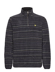 Fairisle Fleece Half Zip - Z865 JET BLACK