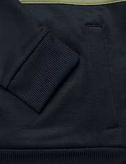 Lyle & Scott - Wide Stripe 1/4 Zip - polos à manches longues - dark navy - 3