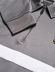 Lyle & Scott - Wide Stripe 1/4 Zip - polos à manches longues - mid flat grey - 2