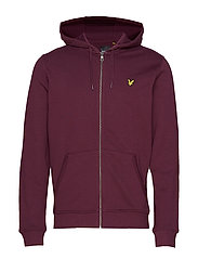 Zip Through Hoodie - BURGUNDY